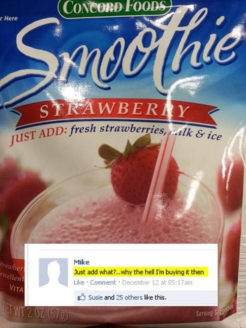 food ingredients smoothies - 7960183296