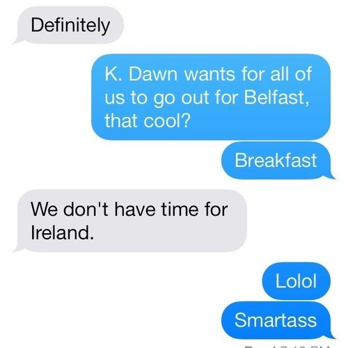 autocorrect,breakfast,Ireland,belfast,text
