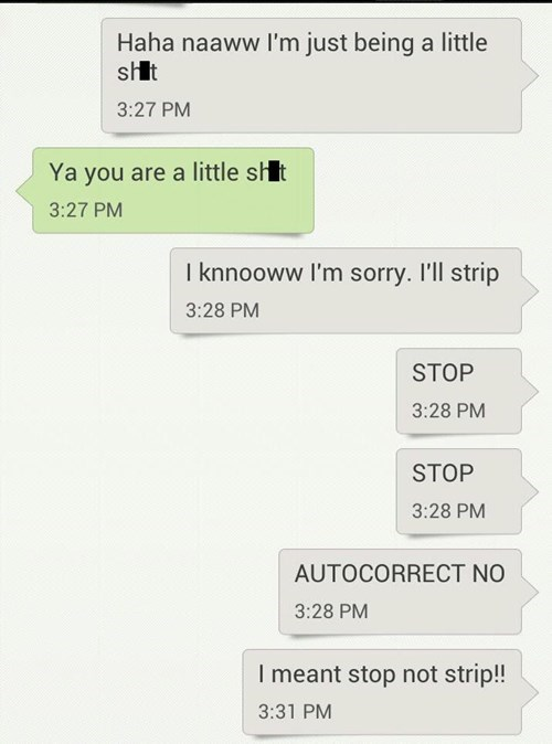 autocorrect text AutocoWrecks apologie