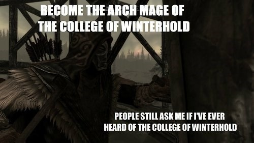 winterhold video game logic Skyrim