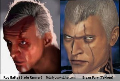 Roy Batty (Blade Runner) Totally Looks Like Bryan Fury (Tekken)