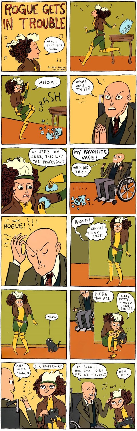 rogue xmen professor x Cats web comics