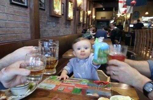 Babies alcohol cute drinking