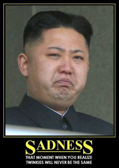 Sad kim jong-un twinkies funny - 7960653568