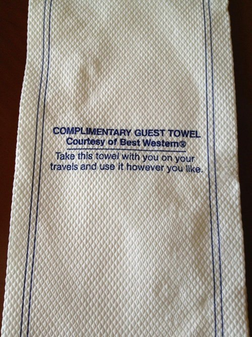 hotel free stuff towel - 7960714240