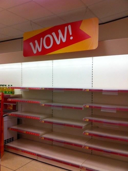 WoW empty shelves - 7960783104