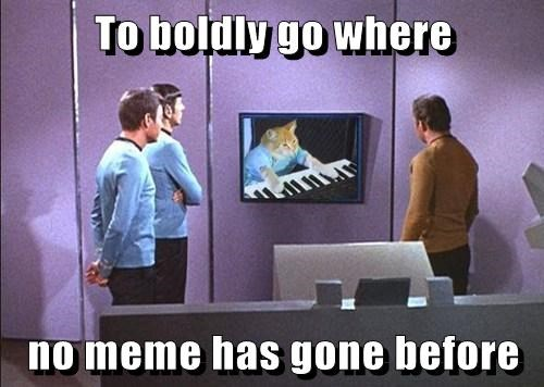 To boldly go where   no meme has gone before