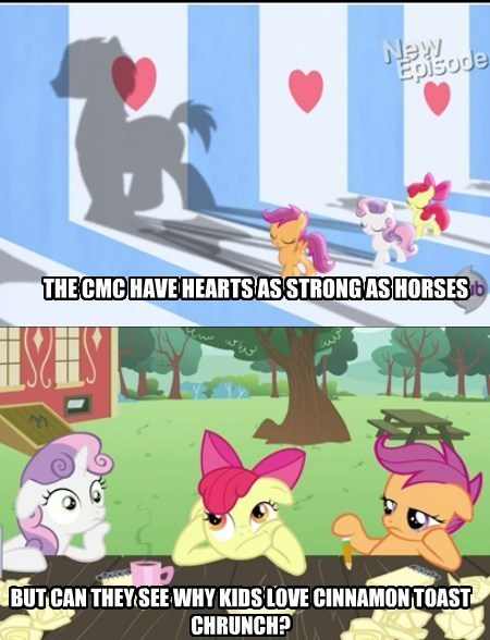 cutie mark crusaders cinnamon toast crunch hearts as strong as horses - 7961737216