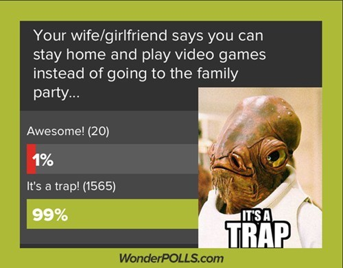 It's most certainly a trap.