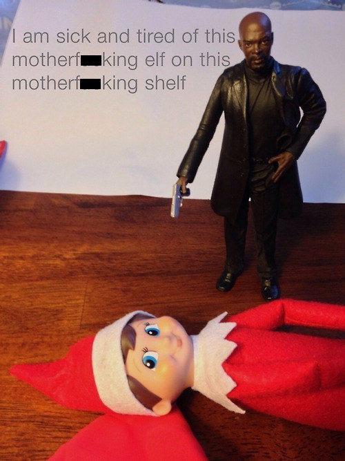 christmas Samuel L Jackson snakes on a plane elf on a shelf - 7961820160