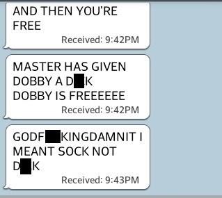 autocorrect Dobby text AutocoWrecks - 7961841664