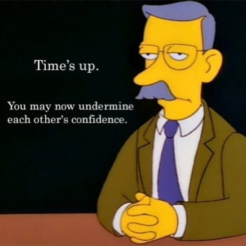 confidence,teachers,school,simpsons
