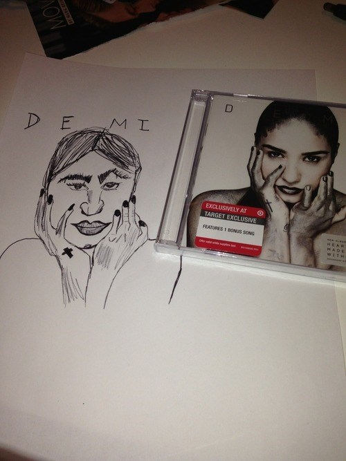 drawing demi lovato mark duplass - 7961886208