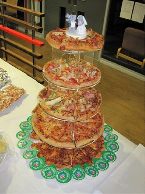food marriage pizza weddings