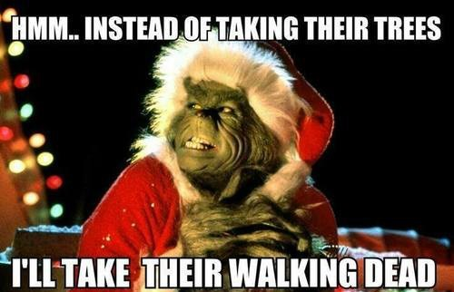 christmas The Walking Dead grinch meme - 7962166784