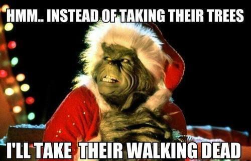 christmas The Walking Dead grinch meme - 7962166784