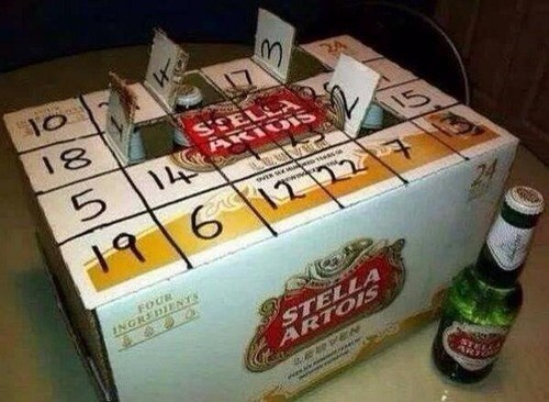 beer,advent calendar,funny,stella artois
