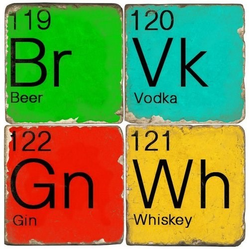 beer coasters funny gin vodka whiskey - 7962202368
