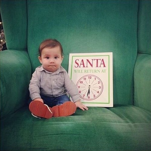 Babies christmas parenting santa claus waiting - 7962266368