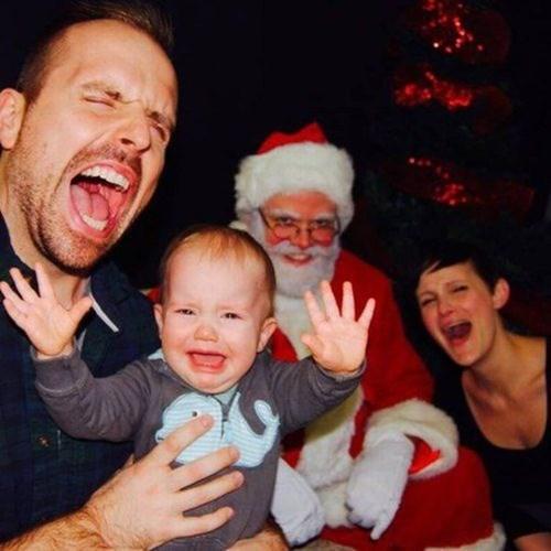 Babies christmas family photos parenting santa claus - 7962283008