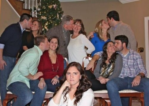 forever alone,photobomb,christmas