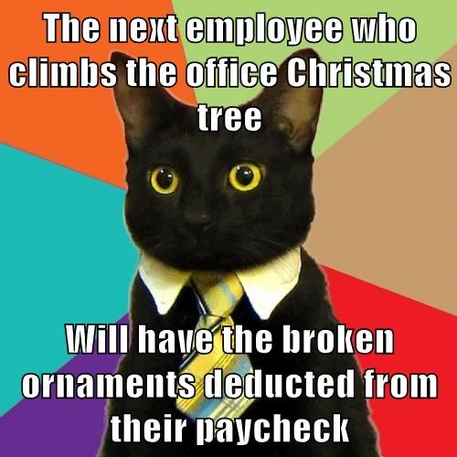 Business Cat christmas Memes - 7962641408
