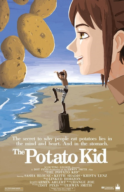 anime crossover Karate Kid attack on titan potato girl - 7962758400
