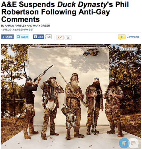 animals ducks homophobia duck dynasty - 7962769664
