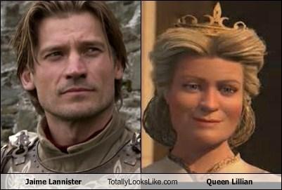 jaime lannister totally looks like queen lillian - 7962931200