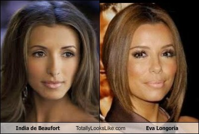 eva longoria,totally looks like,india de beaufort