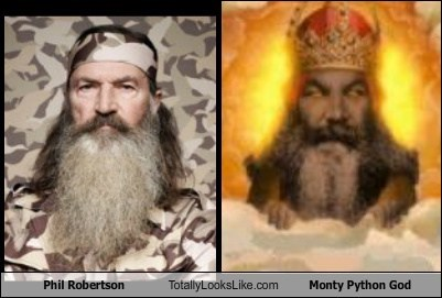 monty python,god,totally looks like,phil robertson