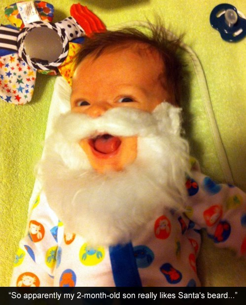 baby beard christmas santa - 7963439872