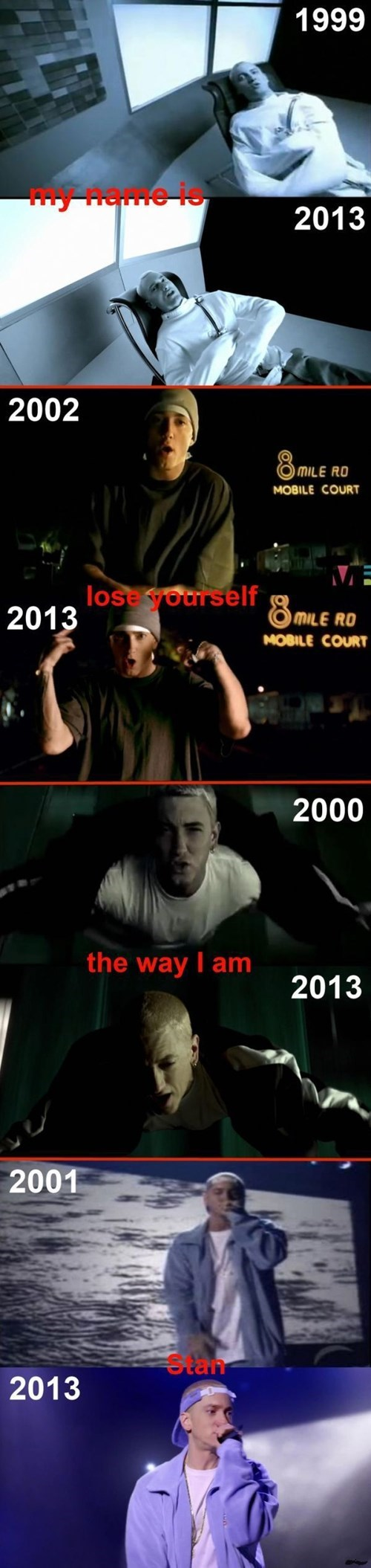 eminem,time travel,music videos