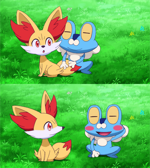 anime Pokémon fennekin froakie - 7963651072