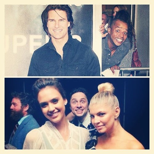 Donald Faison jessica alba photobomb Tom Cruise Zach Braff - 7963684352