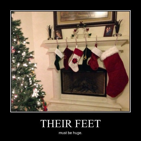 christmas funny foot wtf stockings - 7963716096