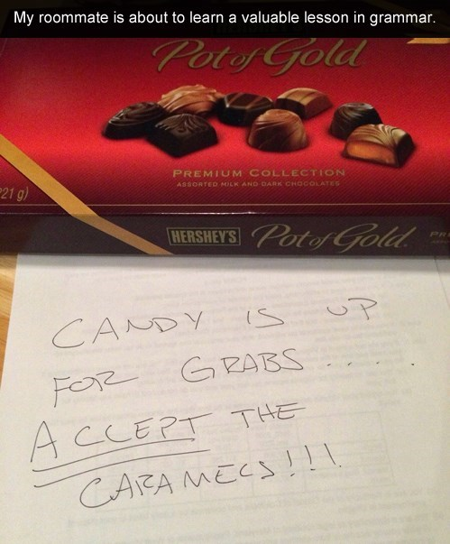 candy,grammar