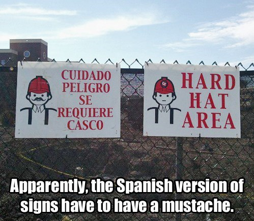 mustaches signs spanish - 7963745536