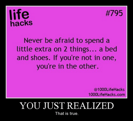 shoes bed life hacks funny - 7963797760