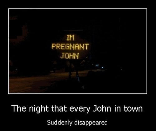 sign bad news pregnant funny john - 7963804160