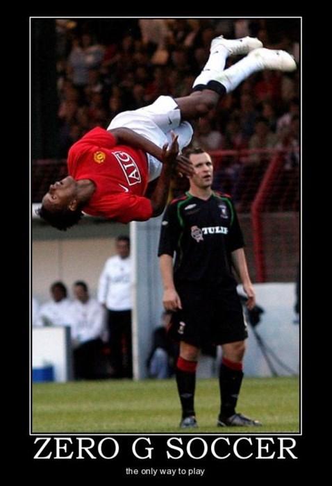 funny sport soccer zero g