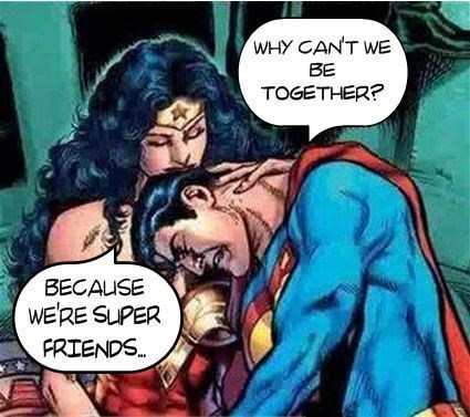 just friends superman wonder woman - 7963818496
