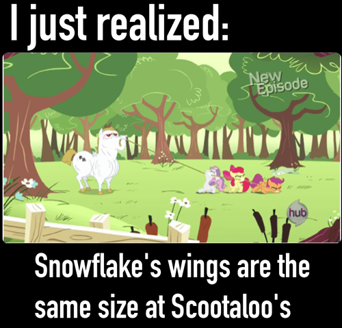 Scootaloo snowflake wings - 7963820544