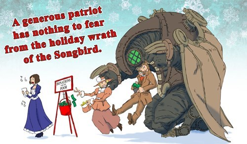 bioshock infinite,bioshock,christmas,Fan Art,video games