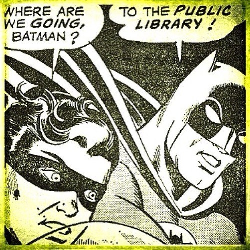 batman,robin,off the page,library
