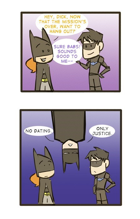dating,batman,batgirl,robin,web comic