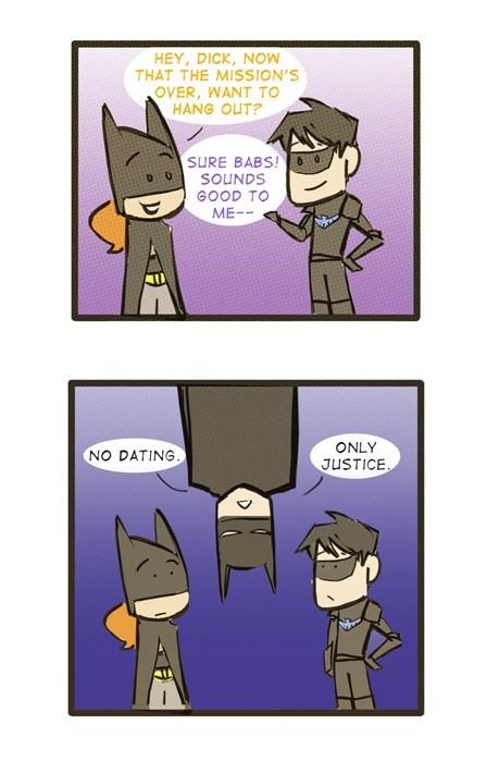 dating,batman,batgirl,robin,web comic