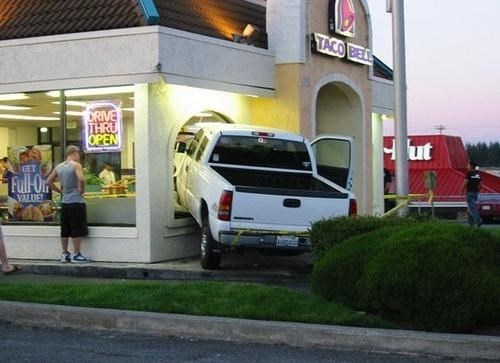 accidents,car crash,drive thru,taco bell