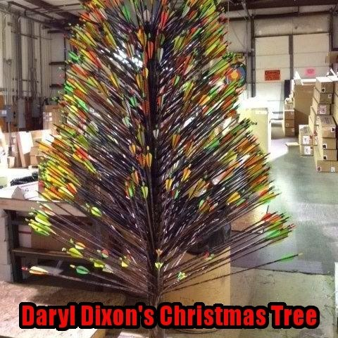arrows,daryl dixon,christmas,christmas tree