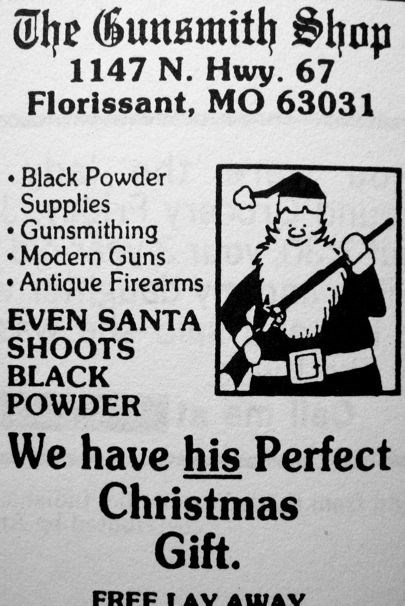 Ad guns christmas newspaper santa